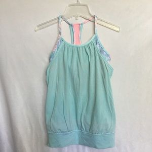 Ivivva mint blue and pink tank top